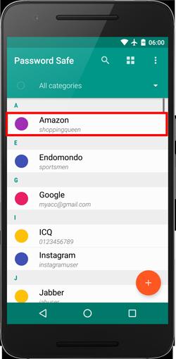 Help - Android | PasswordSafe app